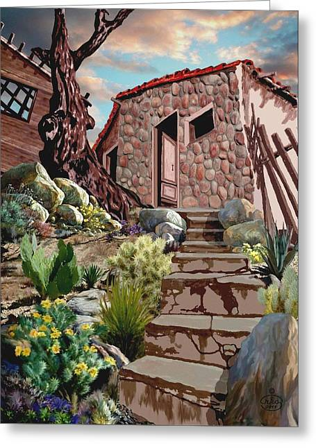 Casa Tijuana Greeting Card by Ron Chambers