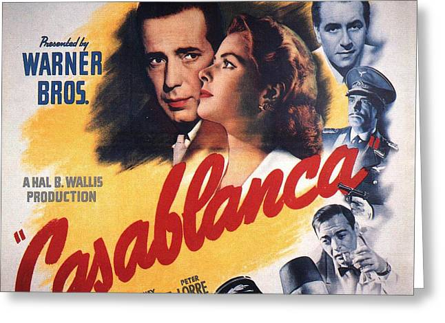 Casablanca In Color Greeting Card by Georgia Fowler