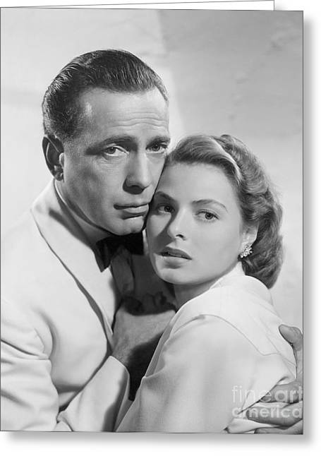 Humphrey Bogart Greeting Cards - Casablanca Greeting Card by MMG Archives