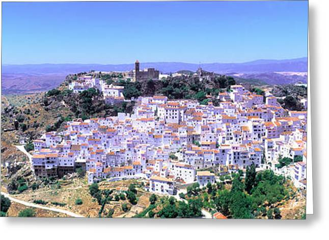 Andalucia Greeting Cards - Casares, Andalucia, Spain Greeting Card by Panoramic Images
