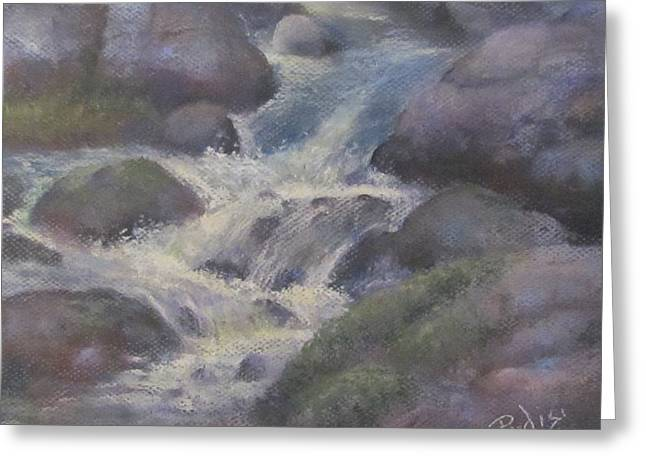 Creek Pastels Greeting Cards - Cascade Greeting Card by Bill Puglisi