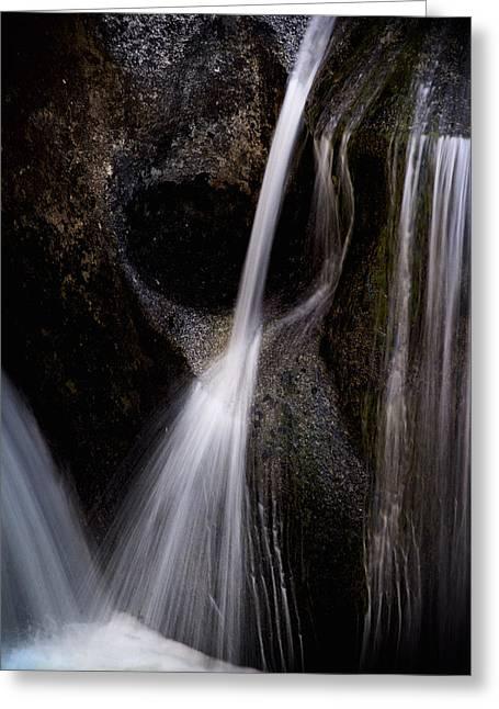 Cascade Creek Detail Greeting Card by Joe Doherty