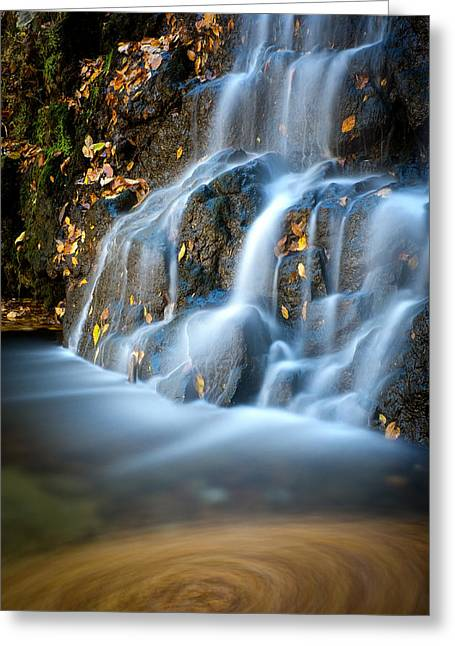 Catonsville Greeting Cards - Cascade Falls #1 Greeting Card by Geoffrey Baker