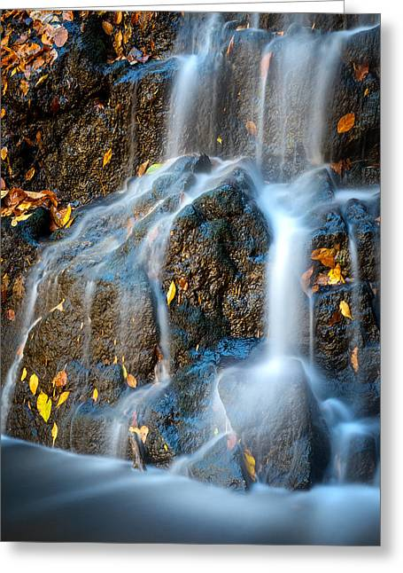 Catonsville Greeting Cards - Cascade Falls #2 Greeting Card by Geoffrey Baker