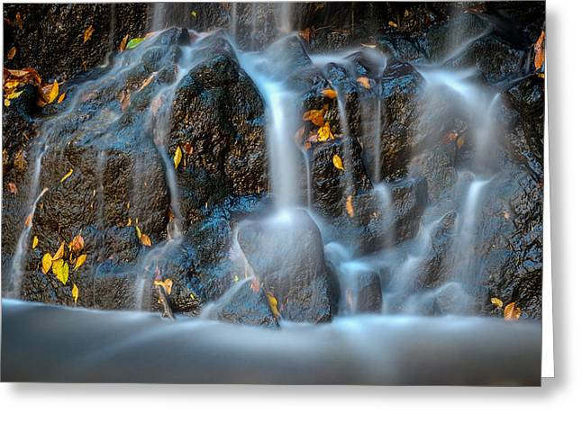 Catonsville Greeting Cards - Cascade Falls #3 Greeting Card by Geoffrey Baker
