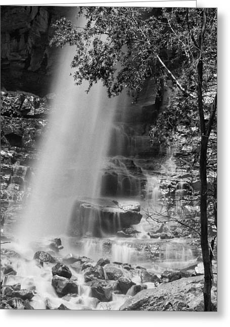 Perpetual Motion Greeting Cards - Cascade Falls Greeting Card by Melany Sarafis