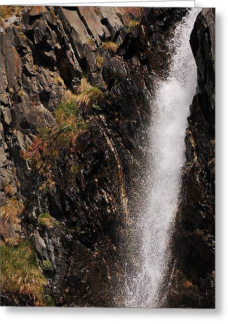 Water Falling Down Rocks Greeting Cards - Cascade Greeting Card by Gina Dsgn