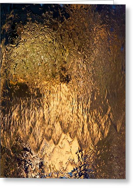 Waterfall Glass Art Greeting Cards - Cascade II Greeting Card by wDm Gallery