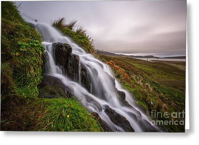 Awesome Greeting Cards - Cascade Greeting Card by Matt  Trimble