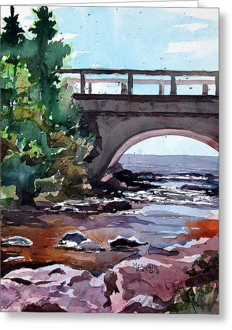Cascade River Bridge Greeting Card by Spencer Meagher