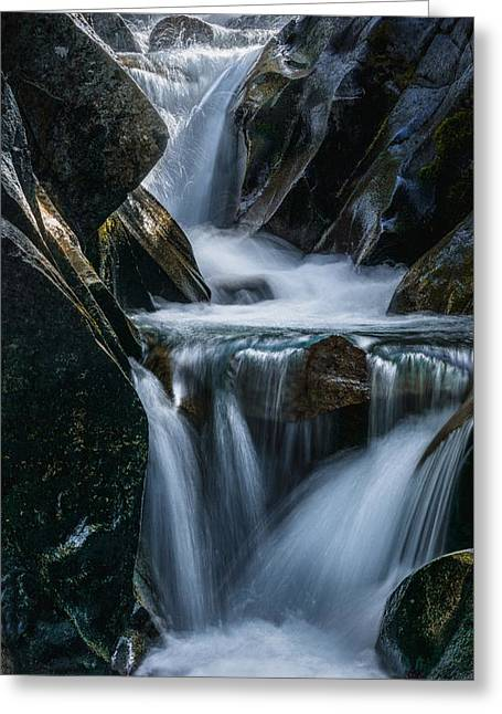 Pierce County Greeting Cards - Cascades Greeting Card by Gene Garnace