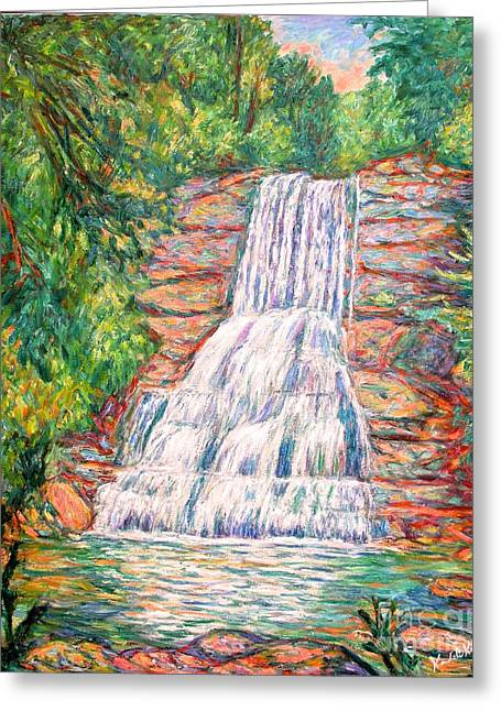 Impressionist Greeting Cards - Cascades in Giles County Greeting Card by Kendall Kessler