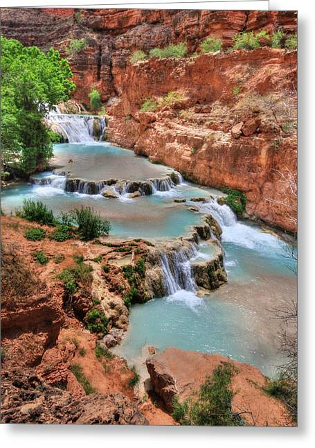 Cascades Of Beaver Falls Greeting Card by Lori Deiter