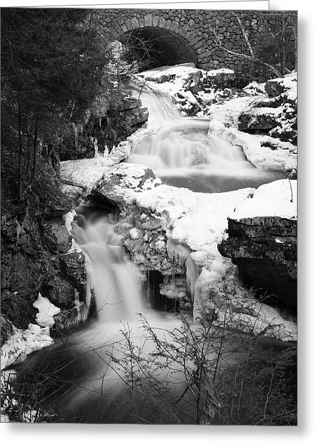 Wintry Photographs Greeting Cards - Cascades of Velvet Greeting Card by Luke Moore