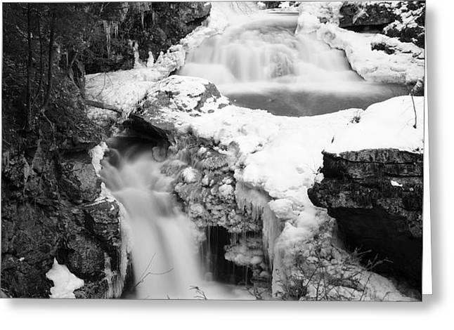 Cascades of Velvet Greeting Card by Luke Moore