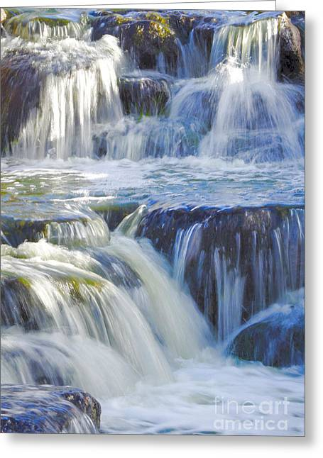 Stream Greeting Cards - Cascading Waters Greeting Card by Deb Halloran