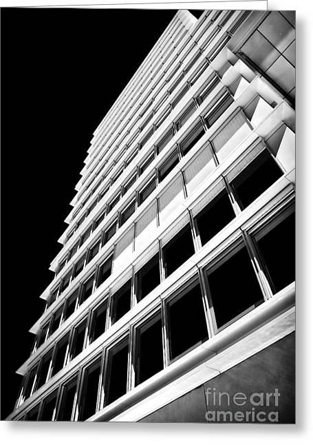 Angled Windows Greeting Cards - Cascais Architecture Greeting Card by John Rizzuto