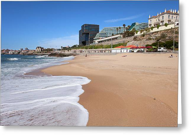 Uncrowded Greeting Cards - Cascais Beach in Portugal Greeting Card by Artur Bogacki