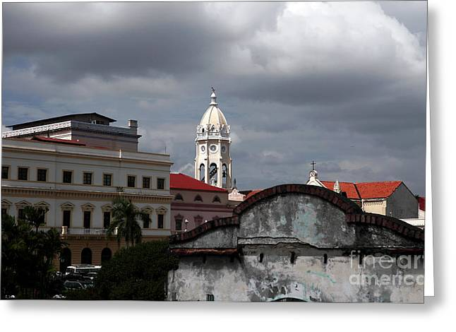 Casco Viejo Greeting Card by John Rizzuto