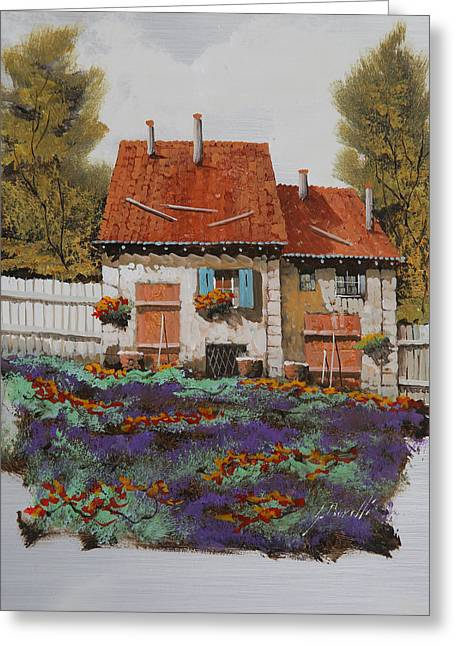 House Jewelry Greeting Cards - Case E Lavande Greeting Card by Guido Borelli