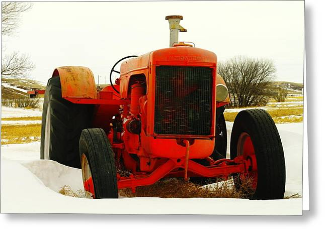 Tractor Tire Greeting Cards - Case Tractor Greeting Card by Jeff  Swan