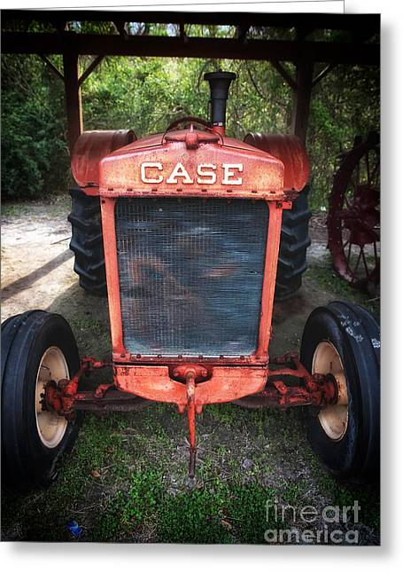 Tractor Prints Greeting Cards - Case Tractor Greeting Card by John Rizzuto
