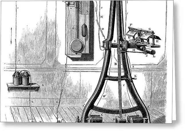Caselli Pantelegraph Greeting Card by Science Photo Library
