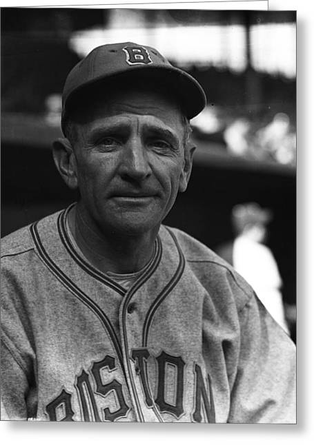 Baseball Players - Greeting Cards - Casey Stengel Greeting Card by Retro Images Archive