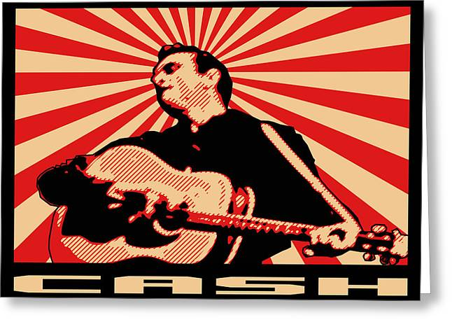 Rockabilly Digital Art Greeting Cards - Cash Greeting Card by Lance Vaughn