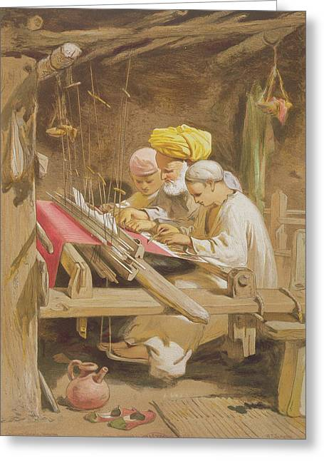 Loom Greeting Cards - Cashmere Shawls Weaving, 1863 Greeting Card by William