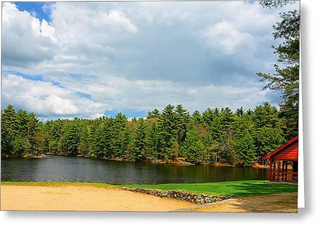 Pond In Park Photographs Greeting Cards - Casimir Pulaski Park Greeting Card by Lourry Legarde