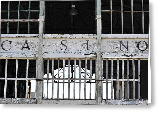Asbury Casino Greeting Cards - Casino Asbury Park New Jersey Greeting Card by Terry DeLuco