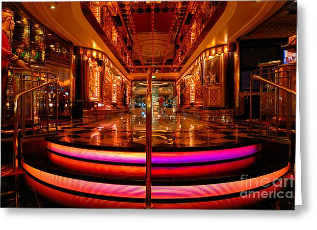 Bright Lights Greeting Cards - Casino Entrance Adventure of the Seas Greeting Card by Amy Cicconi