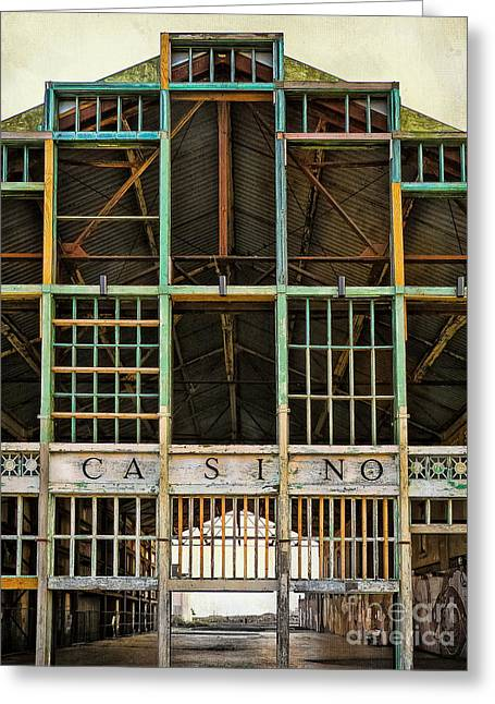 Asbury Park Casino Greeting Cards - Casino in Multi-Color Greeting Card by Colleen Kammerer