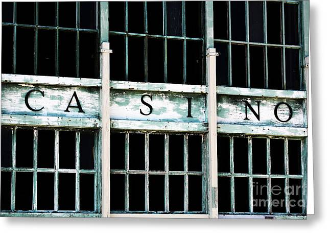 Asbury Park Jersey Shore Architecture Greeting Cards - Casino Greeting Card by John Rizzuto
