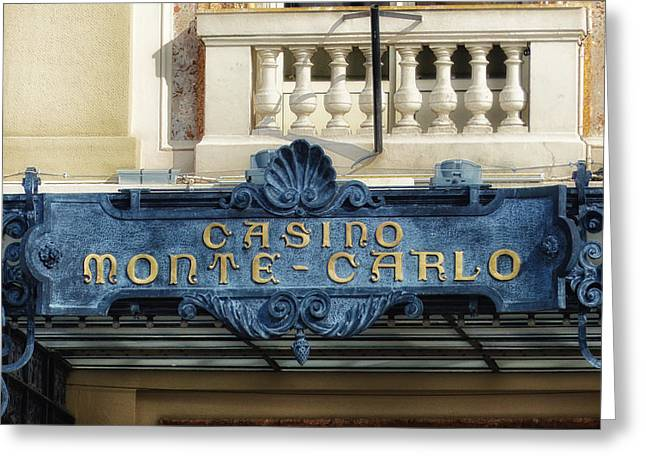 High Stakes Greeting Cards - Casino Monte-Carlo  Greeting Card by Mountain Dreams