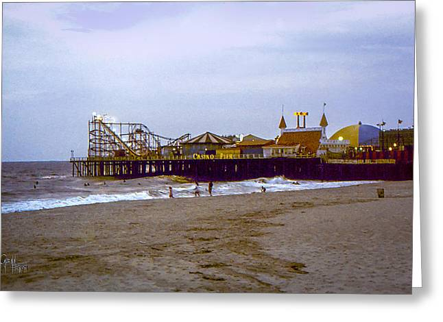 Casino Pier Greeting Cards - Casino Pier Boardwalk - Seaside Heights NJ Greeting Card by Glenn Feron