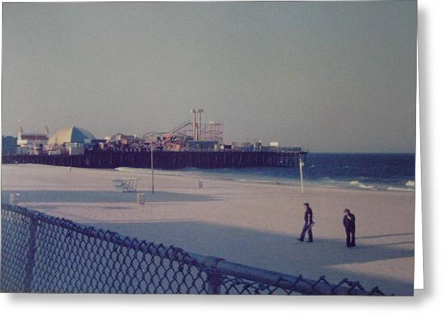 Casino Pier Seaside Heights NJ Greeting Card by Joann Renner