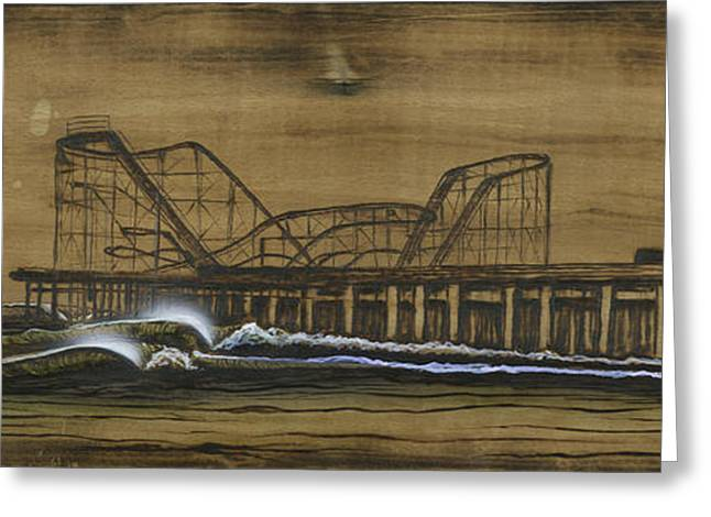 casino pier tribute Greeting Card by Ronnie Jackson
