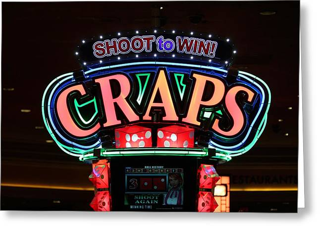 Coins Greeting Cards - Casino Time Greeting Card by Cynthia Guinn