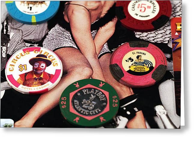 Casino Winnings Greeting Card by John Rizzuto
