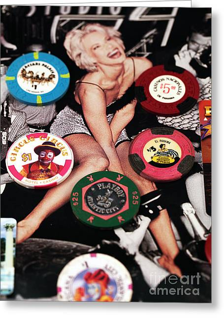 Wager Greeting Cards - Casino Winnings Greeting Card by John Rizzuto