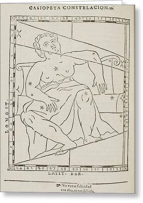 Casiopeya Star Constellation Greeting Card by British Library