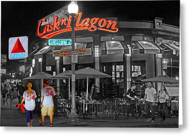 Cask And Flagon 001 Greeting Card by Jeff Stallard