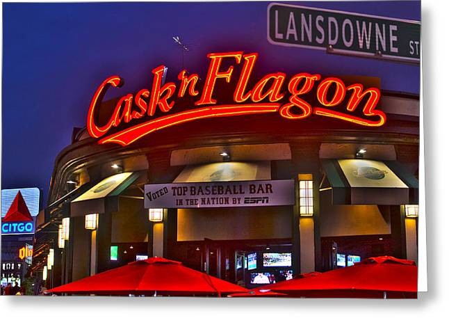 Flagon Greeting Cards - Cask and Flagon Citgo Sign Lansdowne street Greeting Card by Toby McGuire