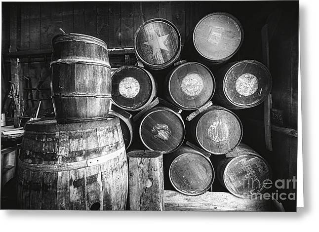 Cooperage Greeting Cards - Casks and Barrels Greeting Card by George Oze