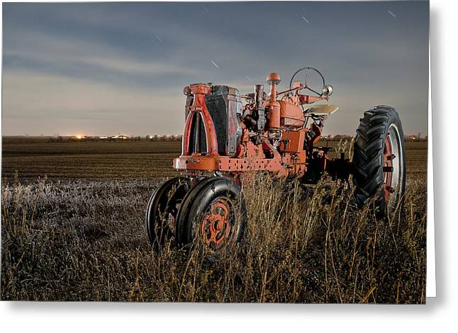 Constellations Greeting Cards - Cass County Tractor 2 Greeting Card by Tom Phelan