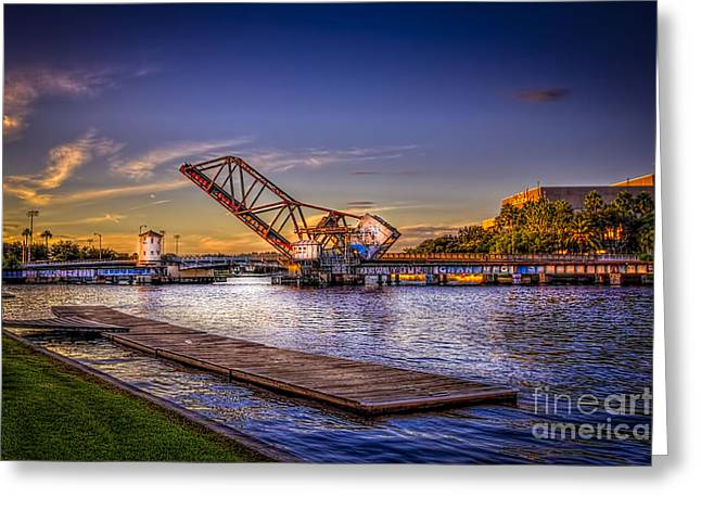 University Of Tampa Greeting Cards - Cass Street Bridge Greeting Card by Marvin Spates