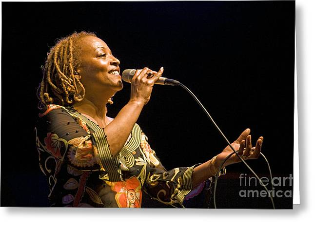 Croon Greeting Cards - Cassandra Wilson Greeting Card by Craig Lovell