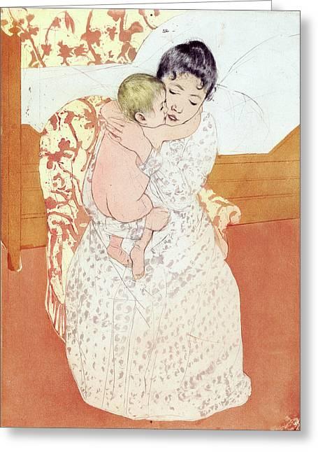 Cassatt Caress, 1891 Greeting Card by Granger